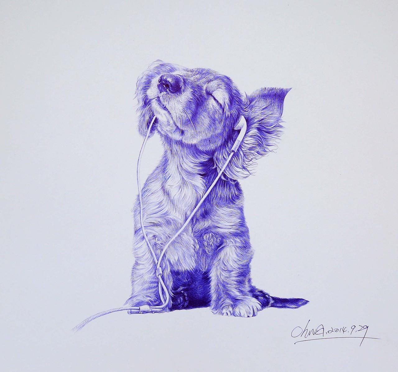 圆珠笔动物系列2