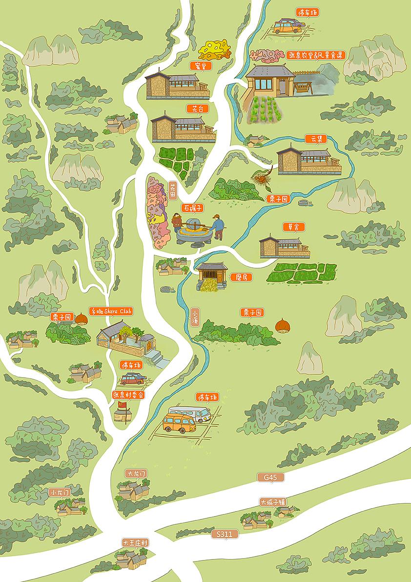 民宿手绘地图