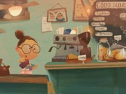 咖啡厅里的创作