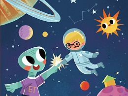 儿童插画  儿童成长尺设计