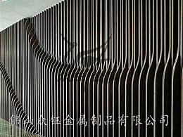 园林金属山峦景墙 不锈钢山峦屏风隔断设计安装厂家