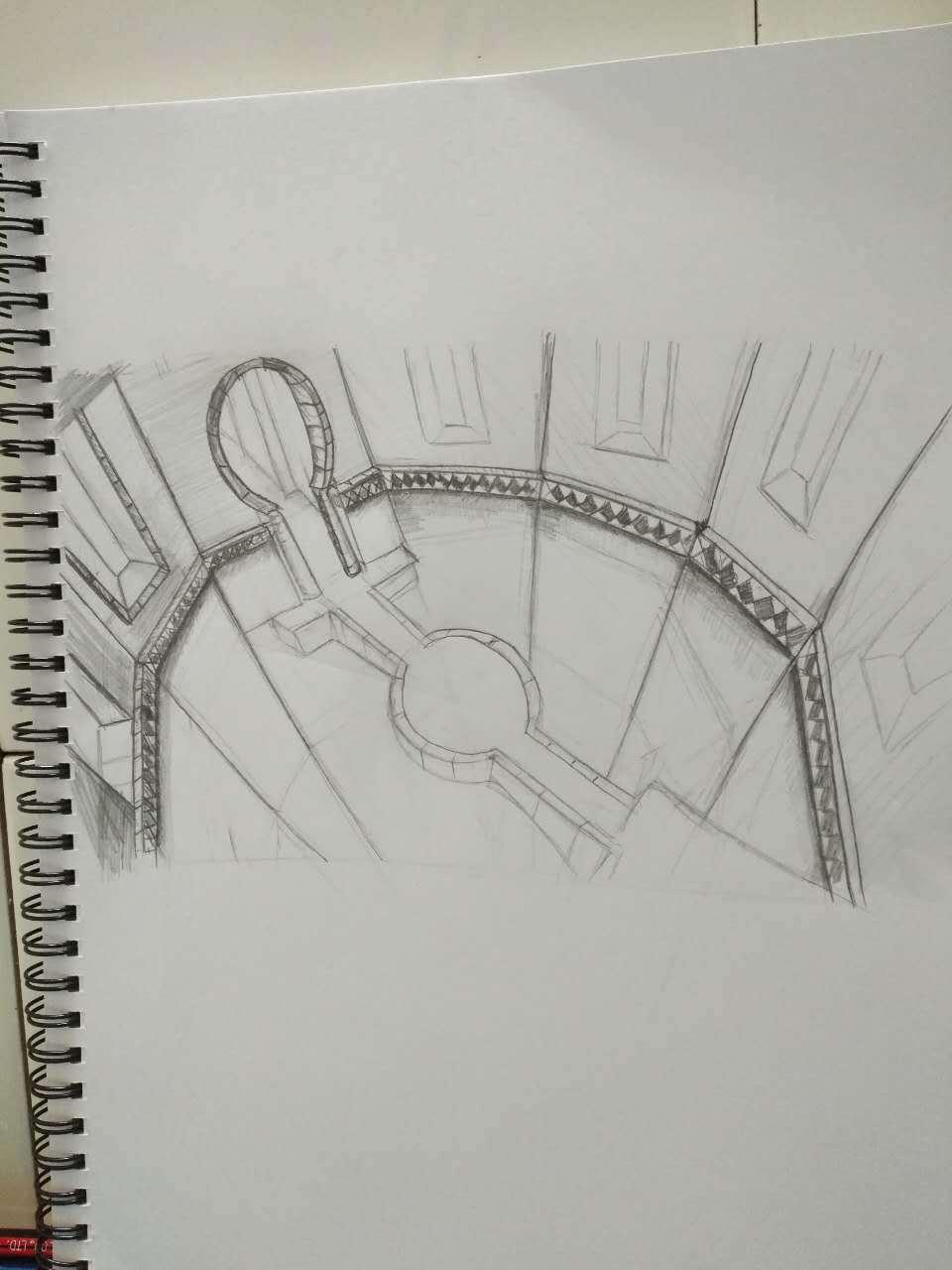 手绘场景步骤图