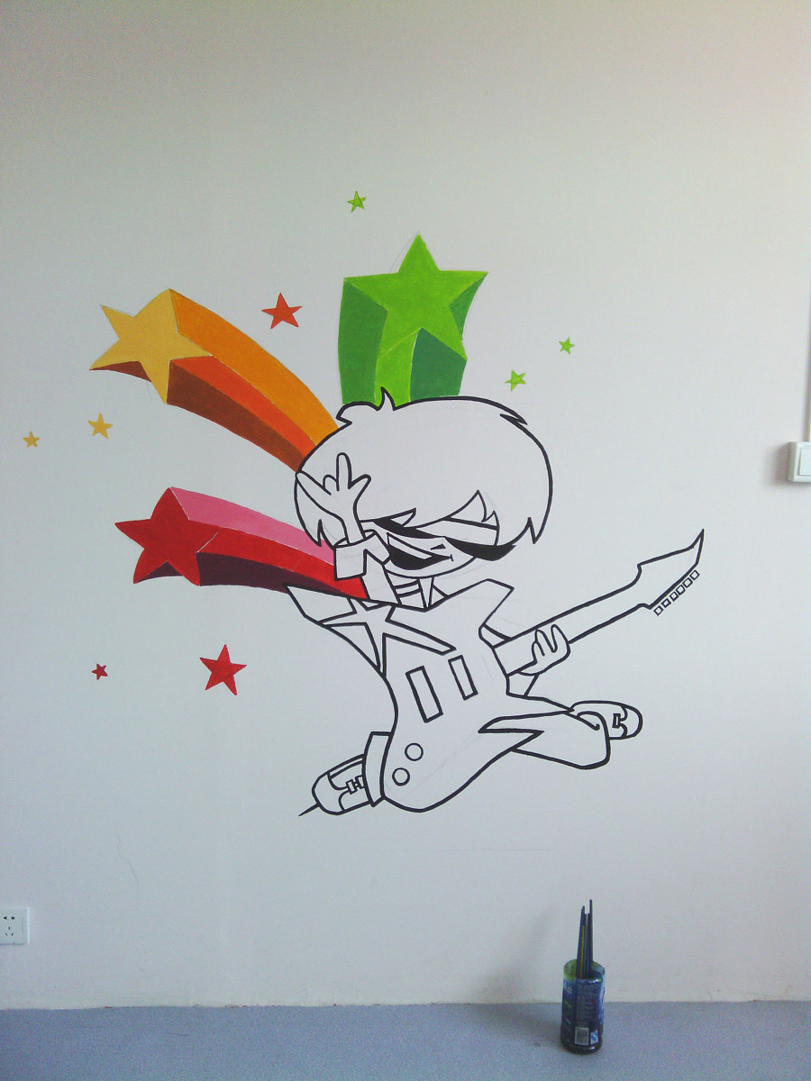非原创手绘墙