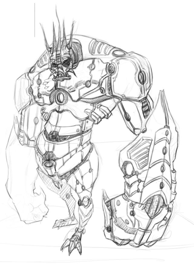 机器人设定草图-墨轩画室