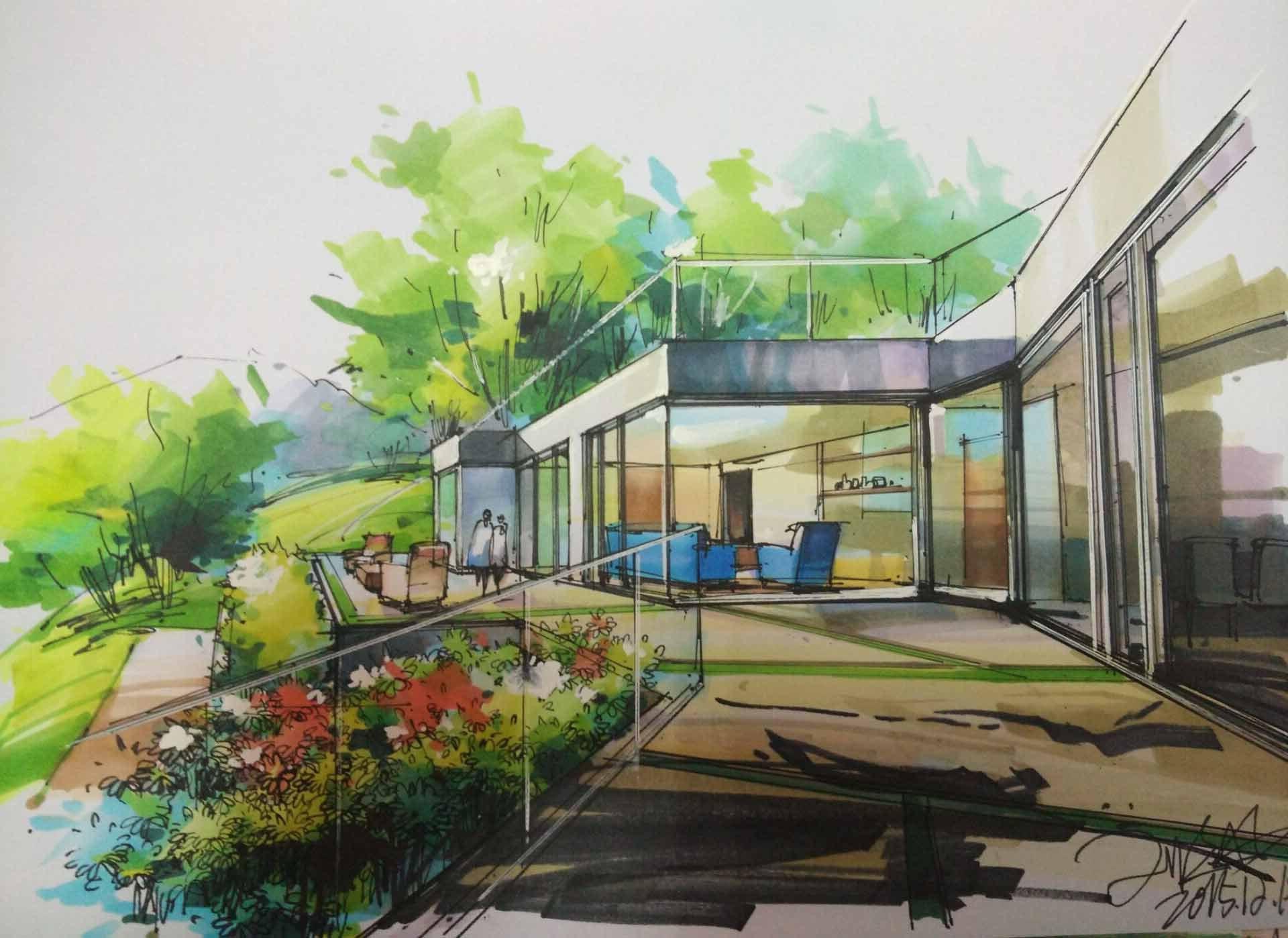 手绘建筑视频|空间|建筑设计|上海问笔 - 原创作品