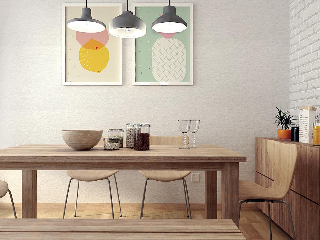 北欧风格 无印良品风 loft工业风混搭性冷淡设计的公寓
