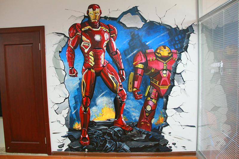 钢铁侠3d手绘|墙绘/立体画|其他|1535808852