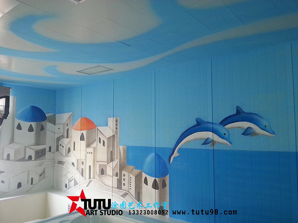 邯郸墙体彩绘 邯郸手绘墙 涂图艺术工作室 岭北医院彩绘
