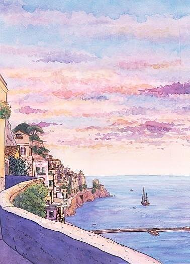 风景画|纯艺术|彩铅|绘彩年华 - 原创作品 - 站酷 (zcool)图片