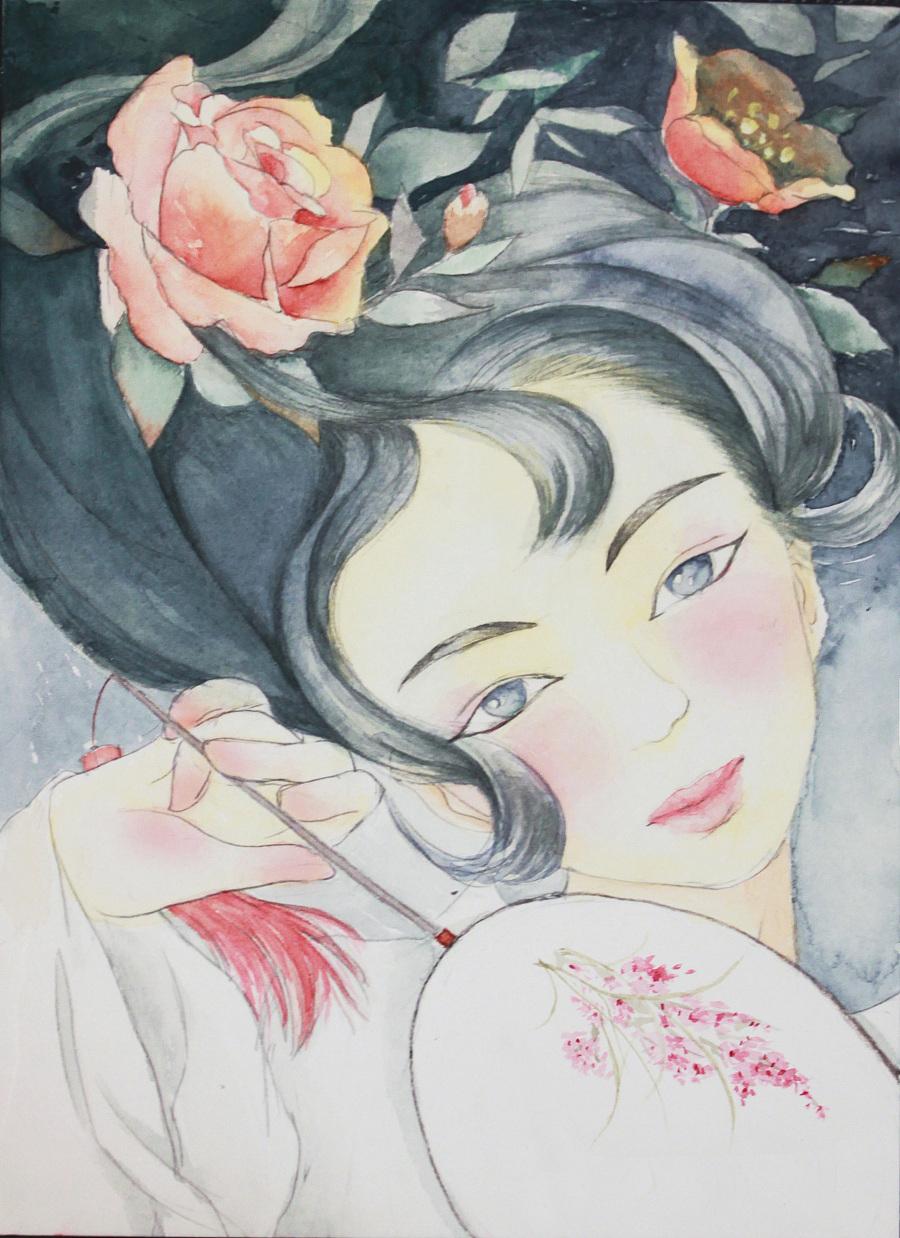手绘水彩插画