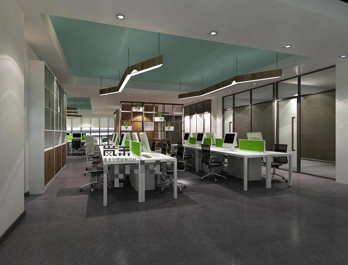 软件开发科技办公室装修设计五加效果图|重庆案例建筑景观设计有限公司图片