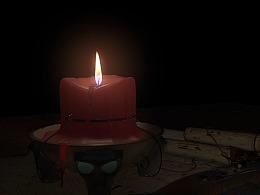 maya流体 蜡烛测试 流体动力学特效