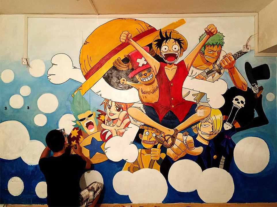 海贼王系列室内墙绘图片