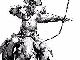 速写古代士兵系列