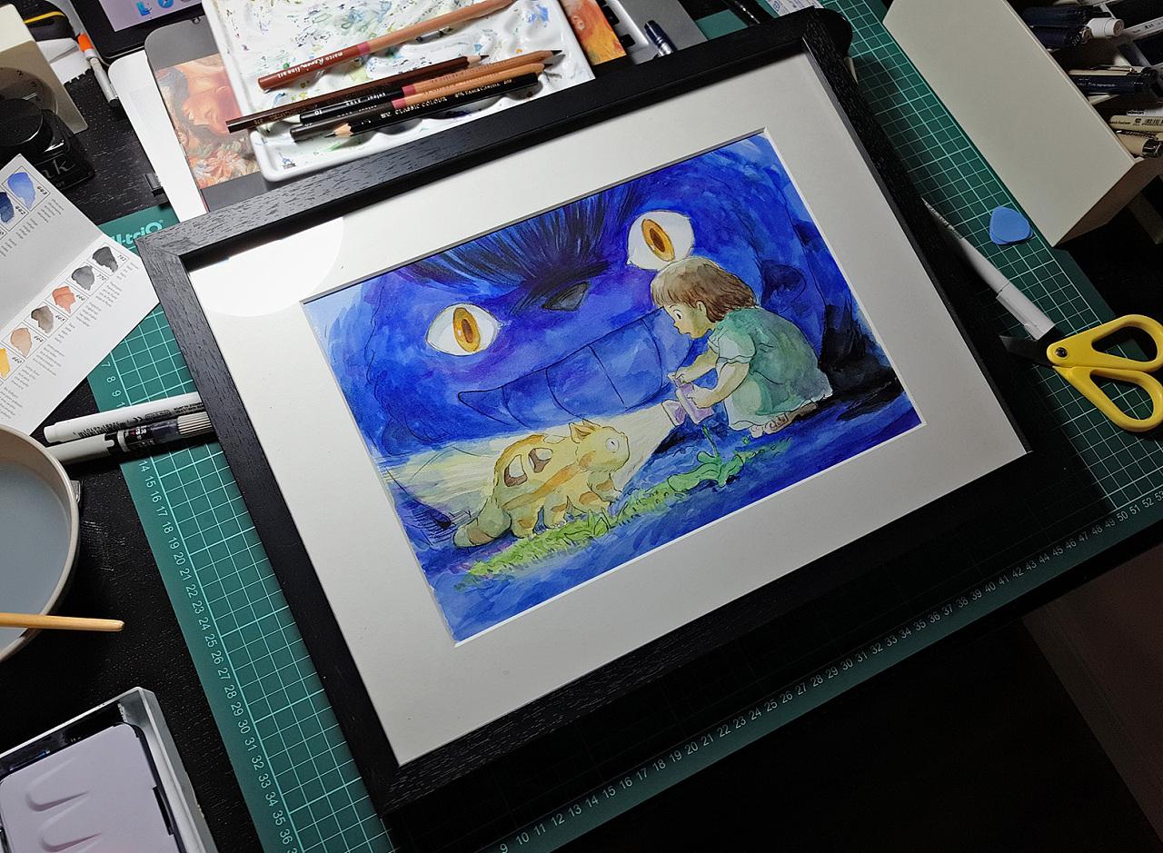 手绘临摹练习,宫崎骏系列