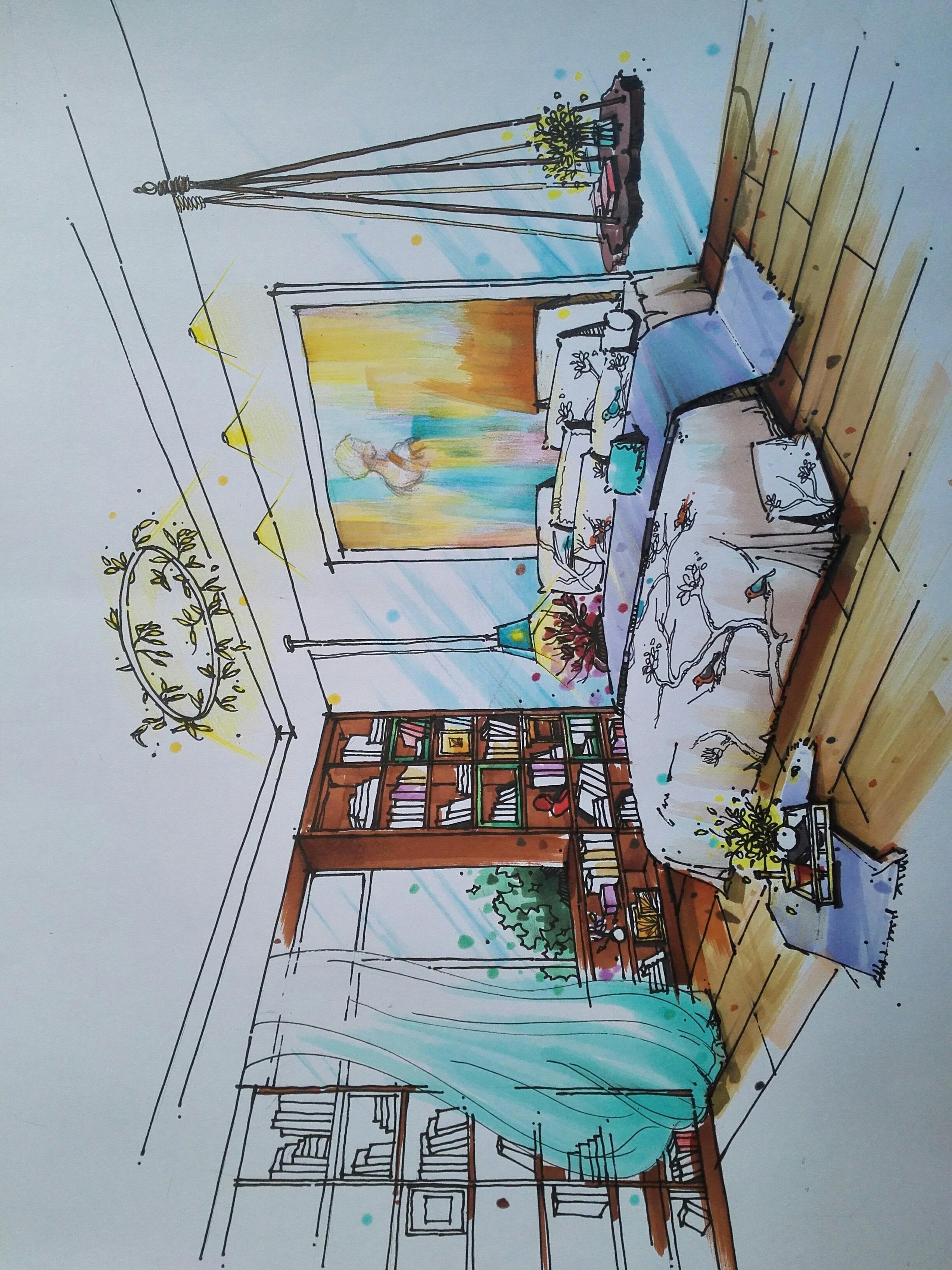 室内手绘效果图