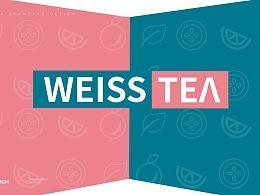 「茶维司奶茶」粉与蓝的时尚拼色