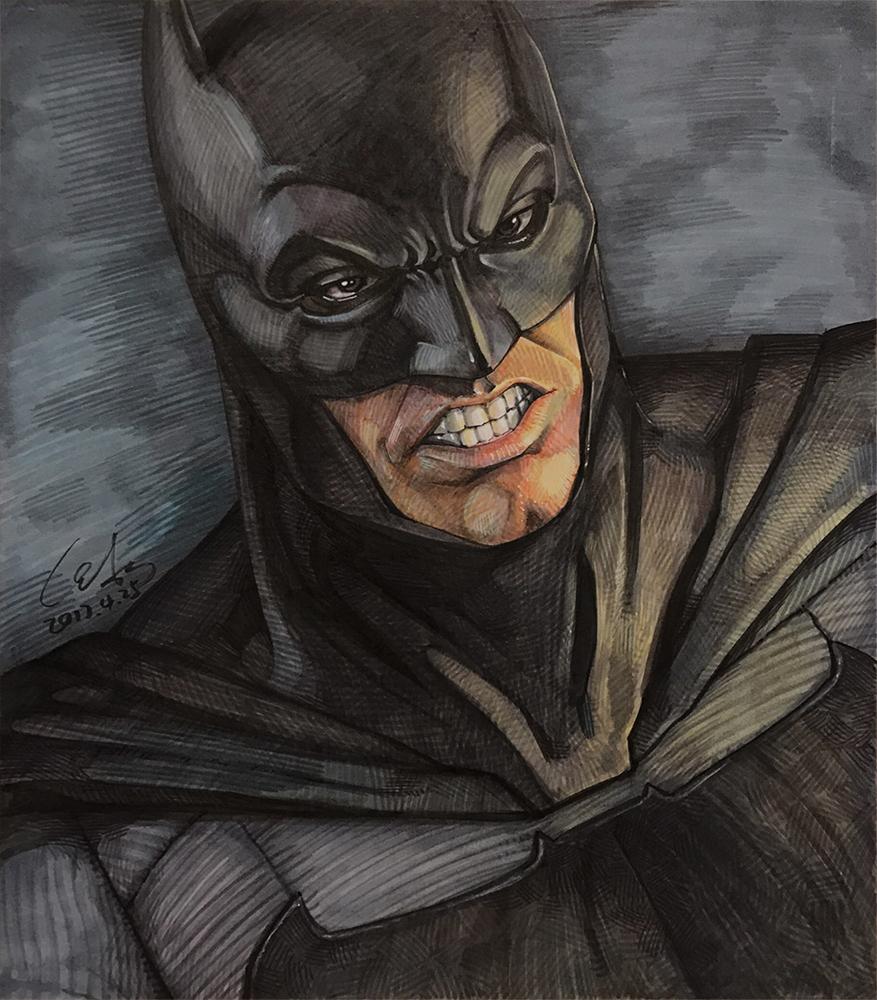 蝙蝠侠手绘卡通图片展示