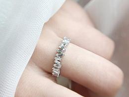 梵尼洛芙珠宝 | 婚戒 「多米诺」