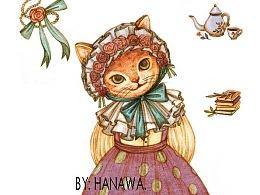 复古彩铅猫猫