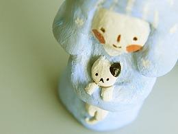 《有你就很好》——原创石粉黏土手工小摆件