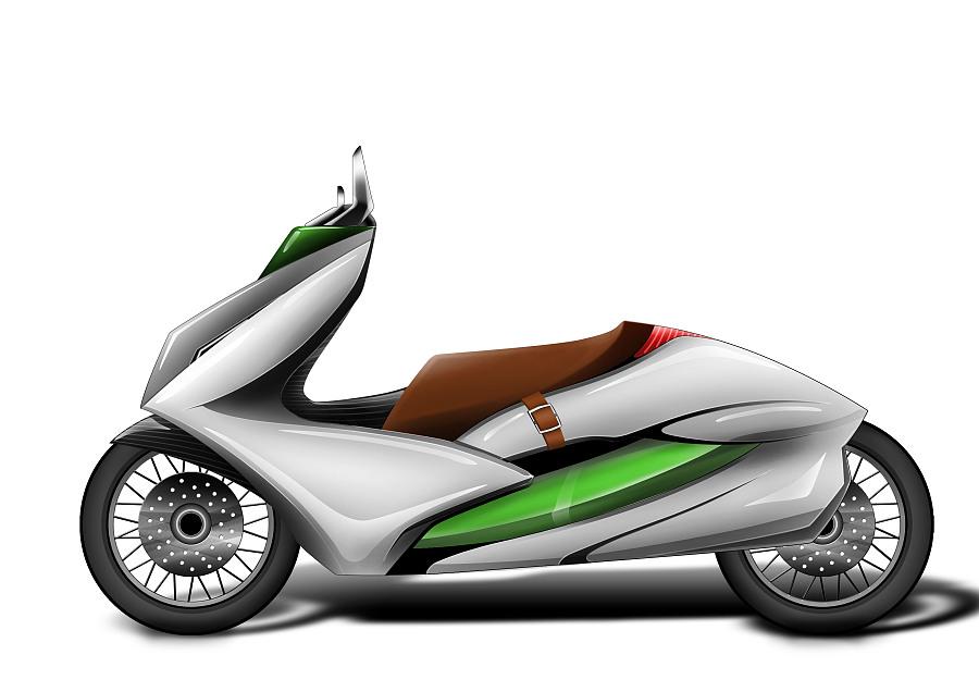 摩托车原创手绘2|交通工具|工业/产品|idge - 原创