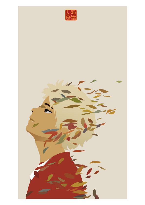 模仿大鱼海棠的手绘画做的一款ai版插图