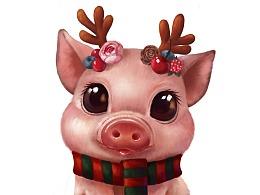 圣诞猪猪女孩