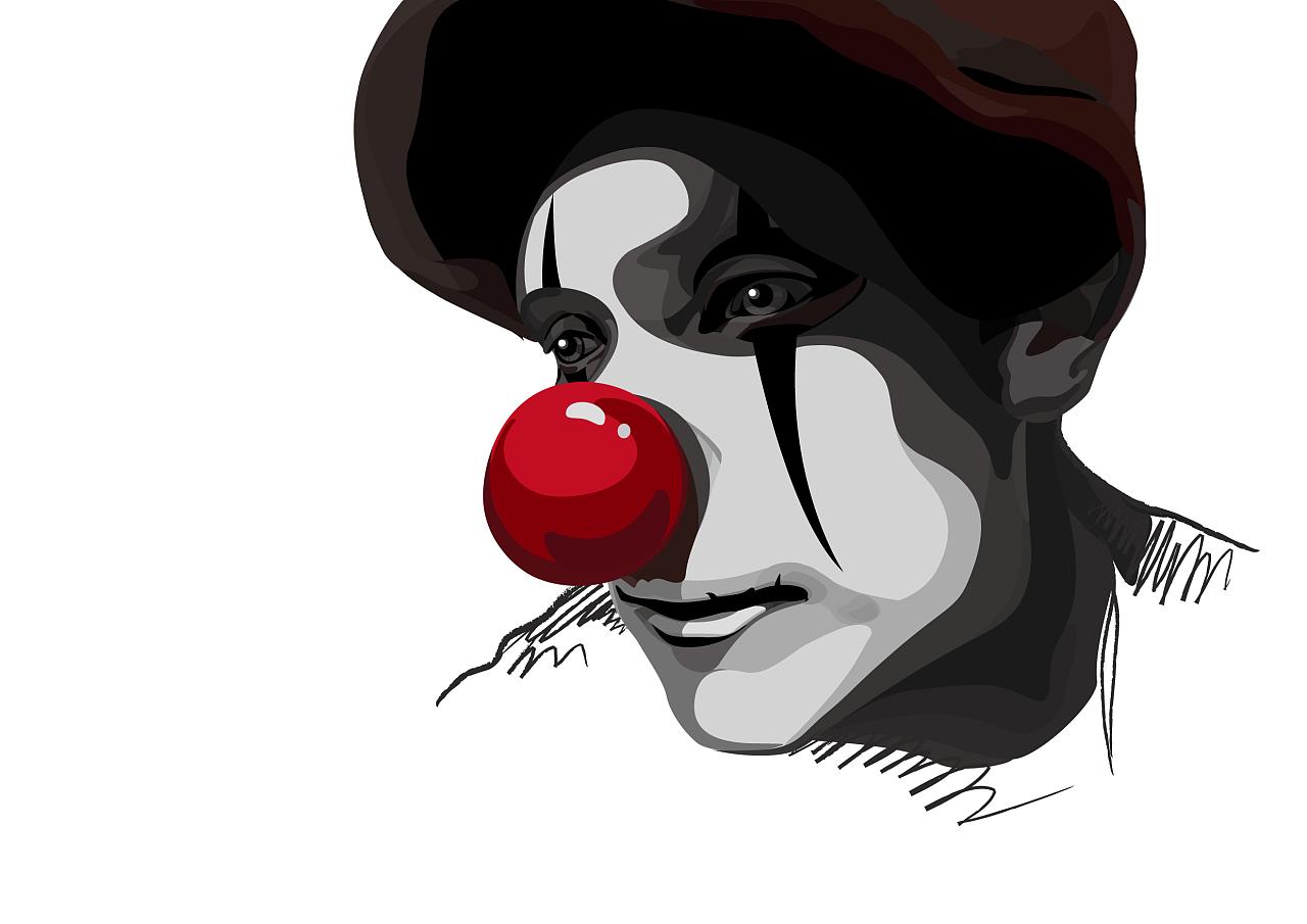 小丑男漫画图片手绘