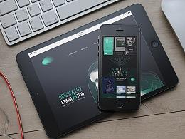 去年做的几个项目作品平面海报和网站的