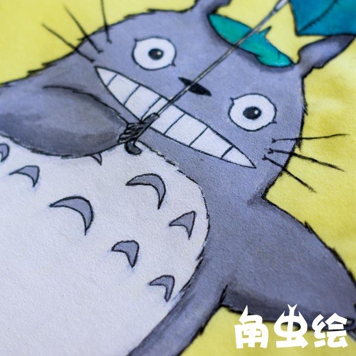 龙猫 手绘t恤