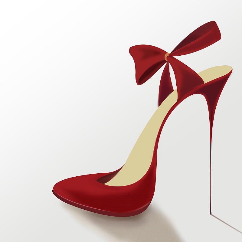 创意 插画 皮鞋 高跟鞋