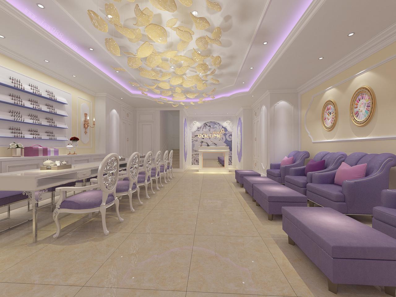 美容院的大廳裝修設計效果圖圖片