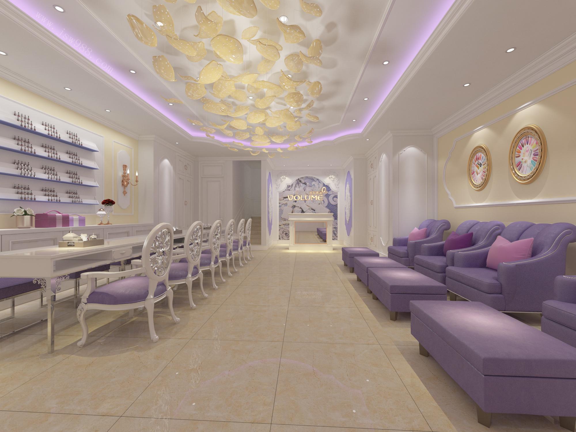 广州天河区美容院装修设计效果图