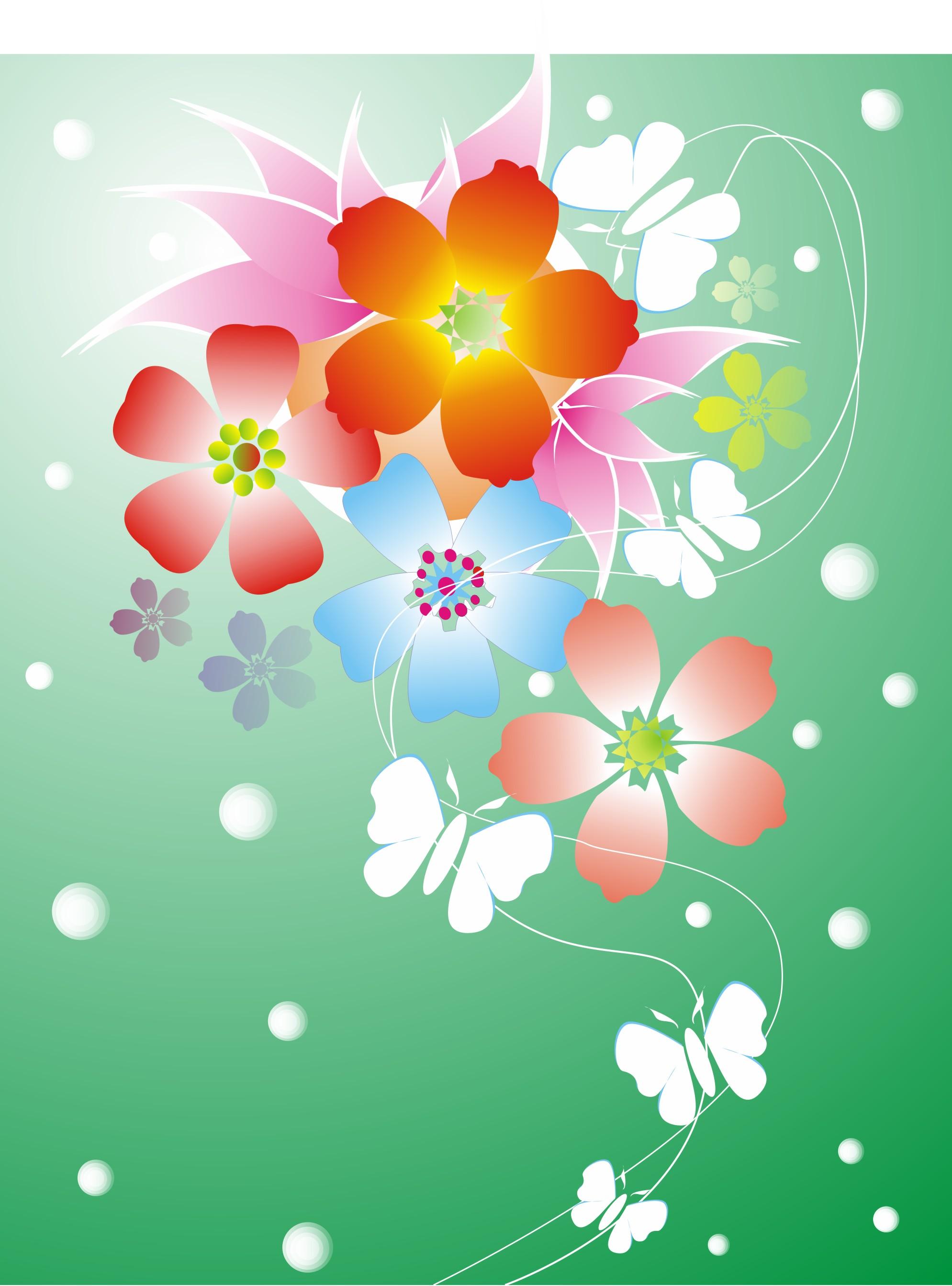 梦幻蝶恋花手机壁纸图片 3d图库发布网www Tqhnet Com