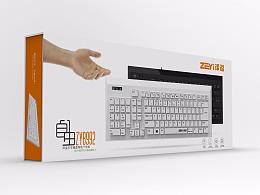 泽溢左手键盘及包装设计