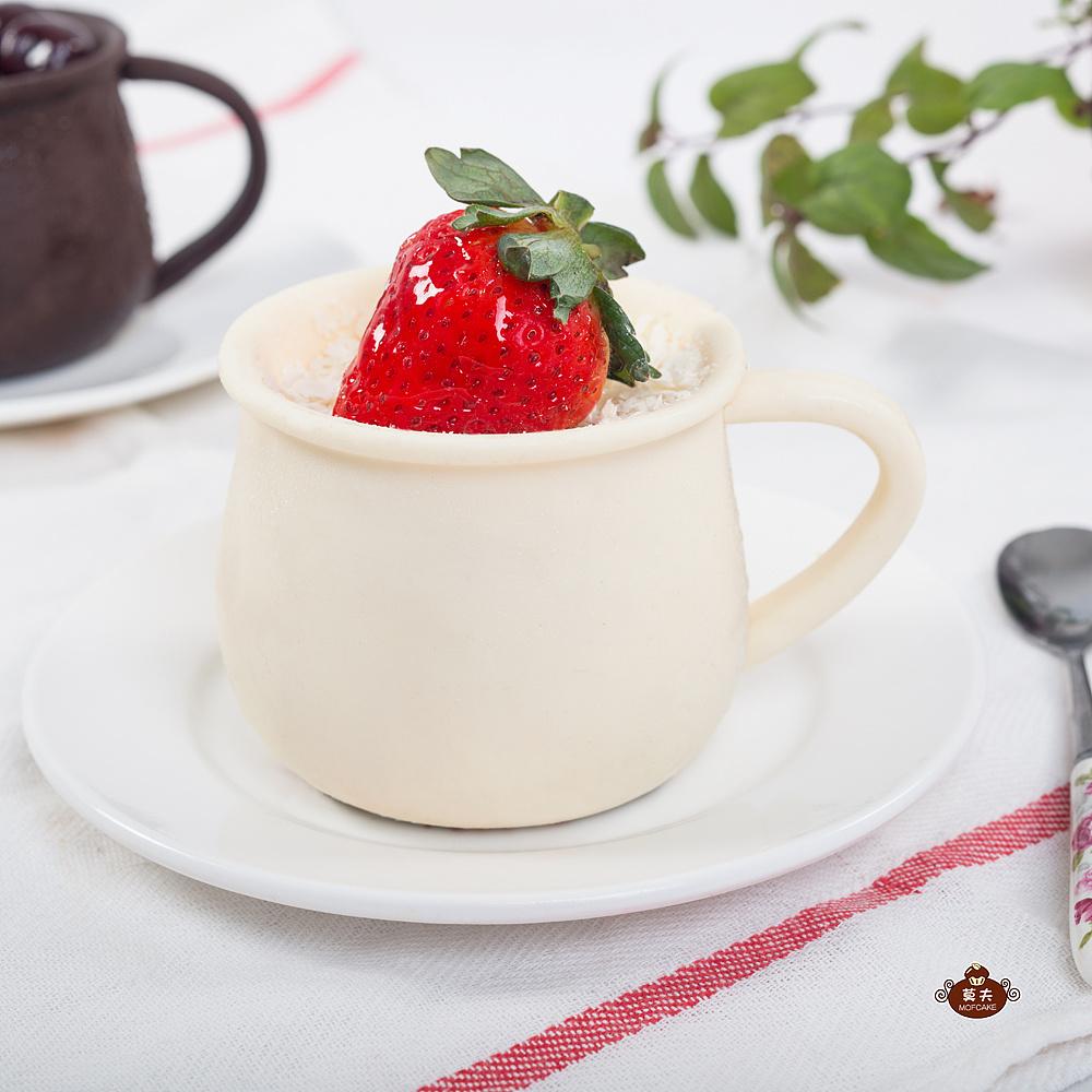 抹茶覆盆子慕斯——杯子和方块模具两种超级详细制作过程
