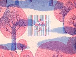 第二百三十九期 读者期刊-郊外-插画涂鸦