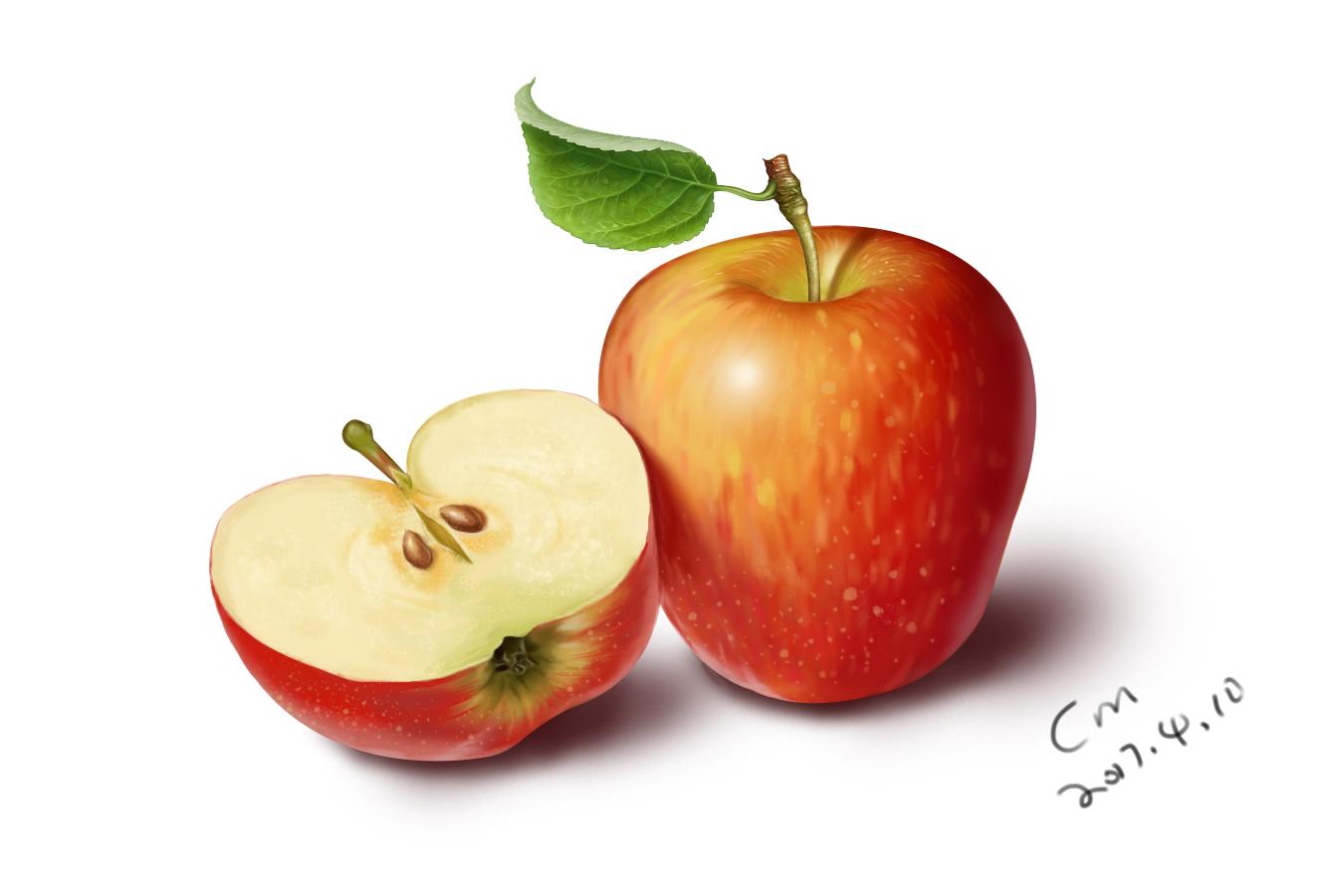 手绘板#苹果
