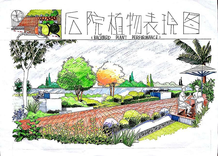 原创作品:景观规划手绘