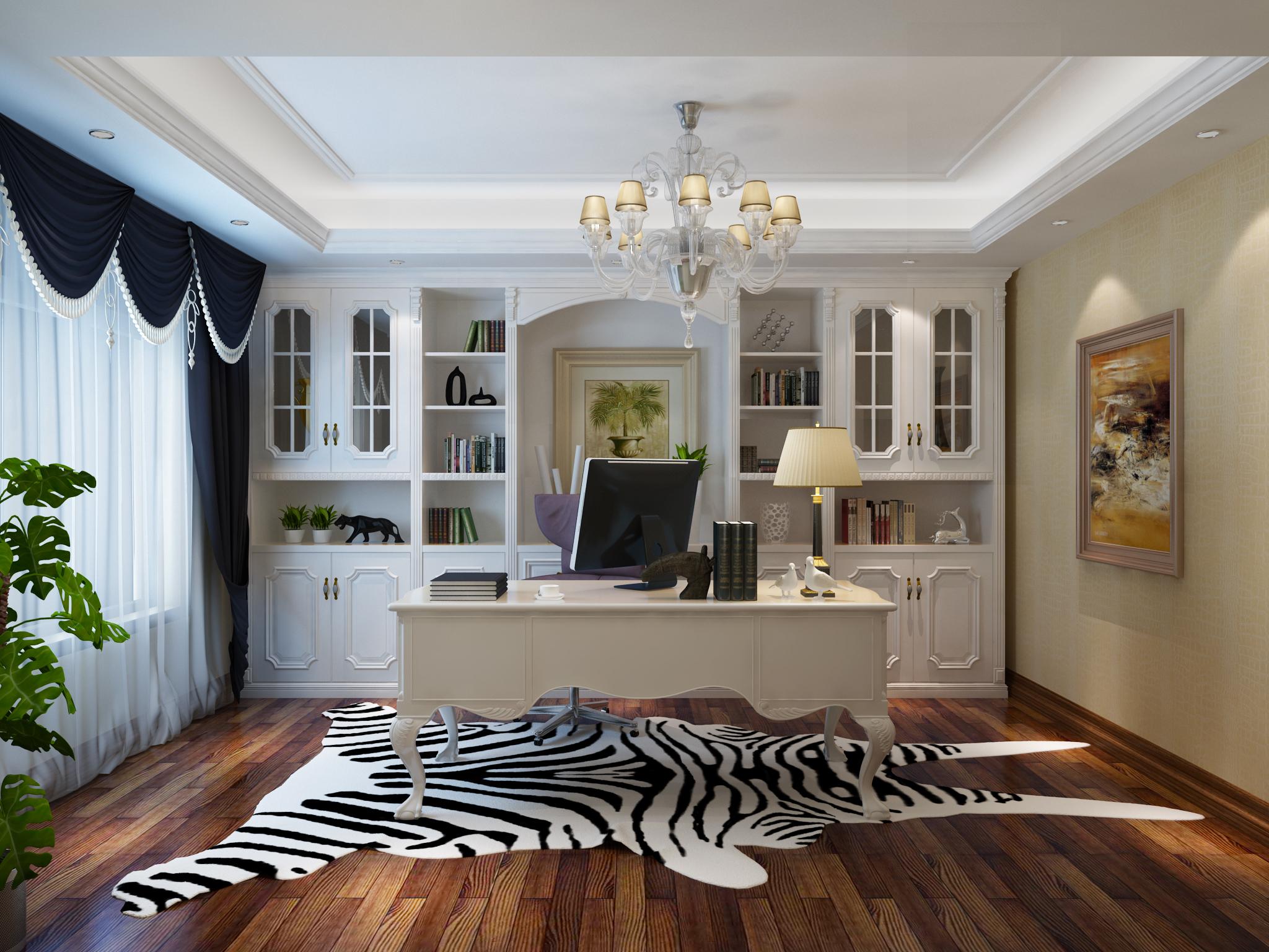 欧式书房|空间|室内设计|勤奋的小懒虫 - 原创作品图片