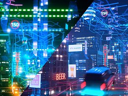 C4D 科幻城市夜景 赛博朋克