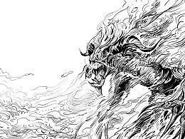 为科幻小说《迷雾之岭》制作的插画