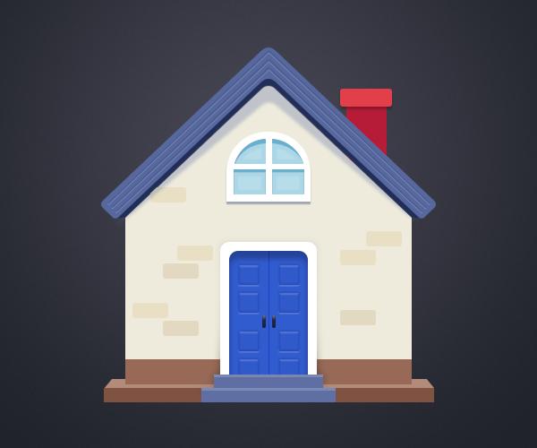 小房子插画临摹|图标|ui|冰冰