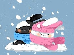 嘉嘉精灵壁纸-大雪