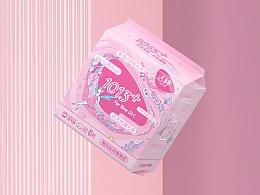 洁婷Doris少女卫生巾包装设计 - 无忧无虑,无所畏惧!