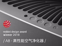 airx A8 空气净化器 荣获 2018 德国红点大奖