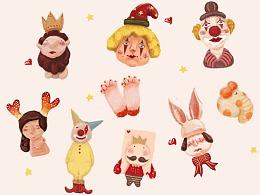 【MY ZOO】马戏团系列人物动物手账贴纸