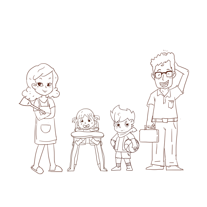 家庭人物设计