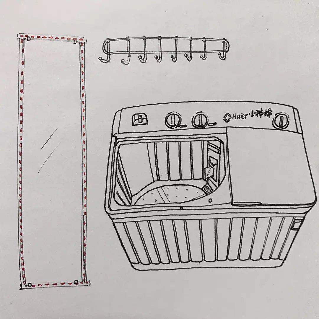 凑的寝室费,买了个小海螺洗衣机.真的是陪伴了我们整整四年.图片